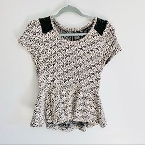 Anthropologie Knitted and Knotted Peplum Blouse